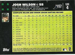 Topps Josh Wilson