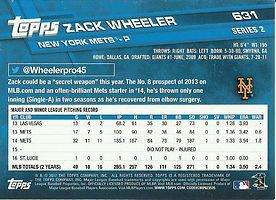 Topps Zack Wheeler