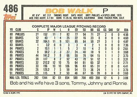 Topps Bob Walk