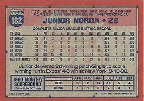 Topps Junior Noboa