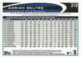 Topps Adrian Beltre