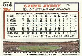 Topps Steve Avery