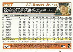 Topps J.T. Snow