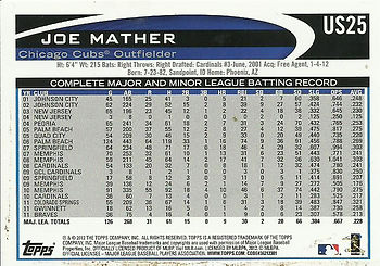 Topps Joe Mather