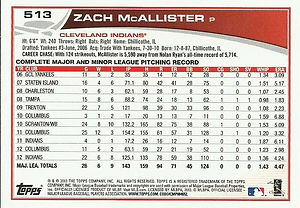 Zach McAllister, 2013 Topps