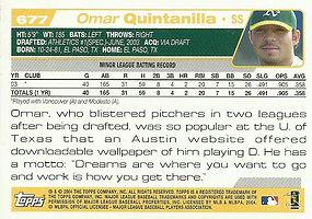 Topps Omar Quintanilla