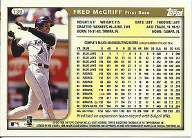 Topps Fred McGriff