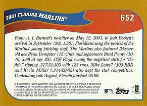 Topps Florida Marlins