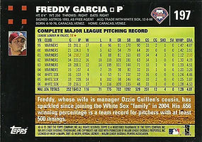 Topps Freddy Garcia