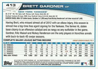 Topps Brett Gardner