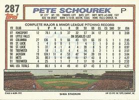 Topps Pete Schourek