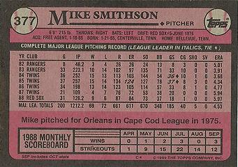 Topps Mike Smithson
