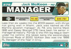 Topps Jack McKeon