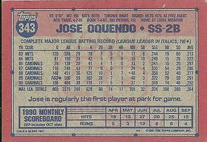 Topps Jose Oquendo