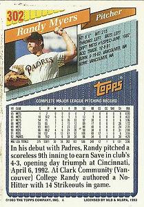 Topps Randy Myers