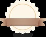 Circle & Ribbon Badge Beige