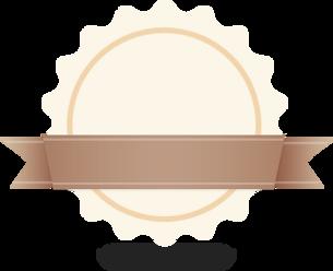 Circle & Ribbon Abzeichen Beige