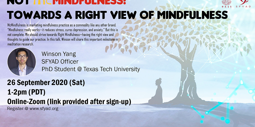Not McMindfulness! Towards a right view of mindfulness