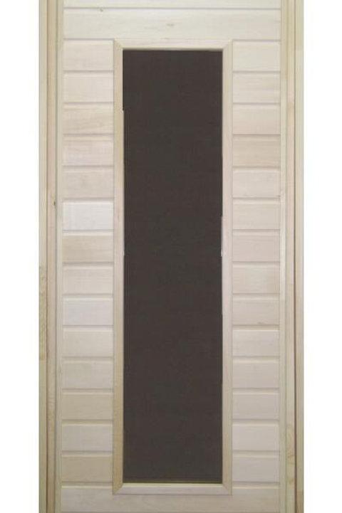 Дверь со стеклянной вставкой липа
