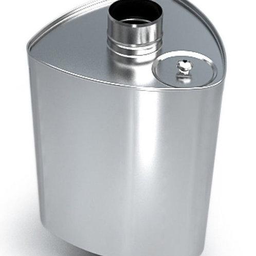 Бак треугольный ферум 72 литра, нержавейка, 1мм
