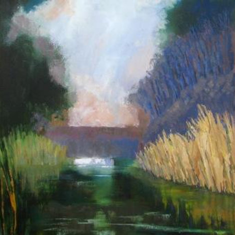 January Canal, limited edition print