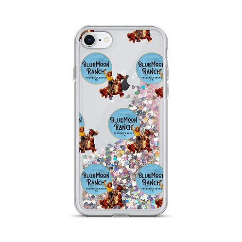 Blue Moon Cowgirl Liquid Glitter iPhone Case