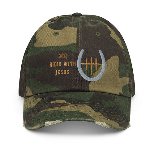 Ridin with Jesus Branded Cap Distressed