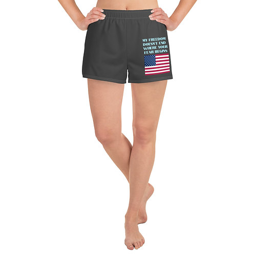 Women's Athletic Short Shorts Stick that Mask...