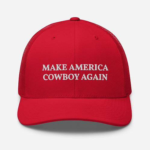 Make America Cowboy Again Cap