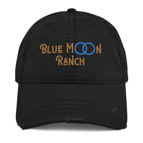 Distressed Blue Moon Ranch Cap