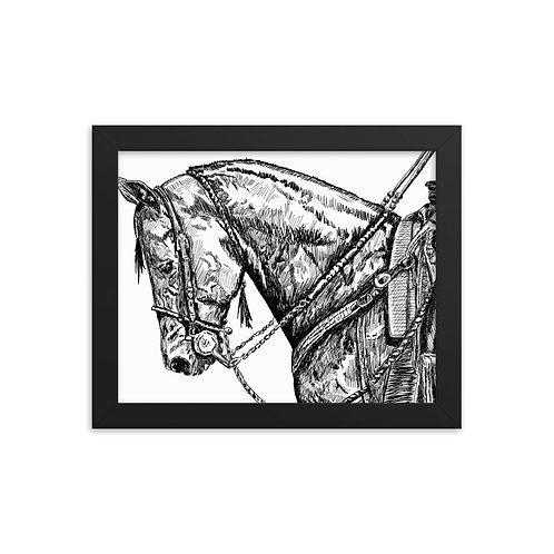 California Vaquero Bridle Horse Framed poster