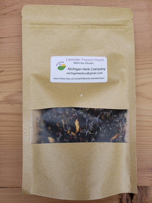 Lavender Passion Peach Black Tea Infusion 50 grams