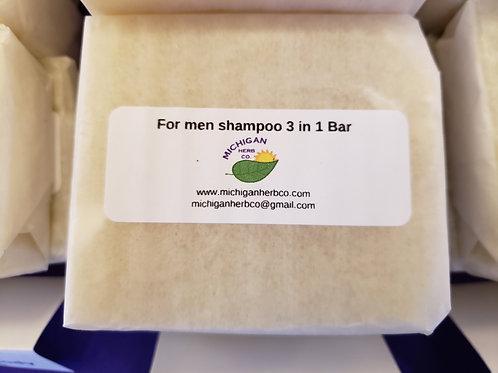 Mens scent shampoo bar