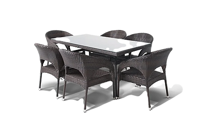 Столы и обеденные групы из ротанга