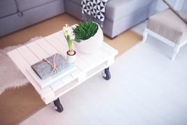 Ferienwohnung Wohnzimmer Tisch