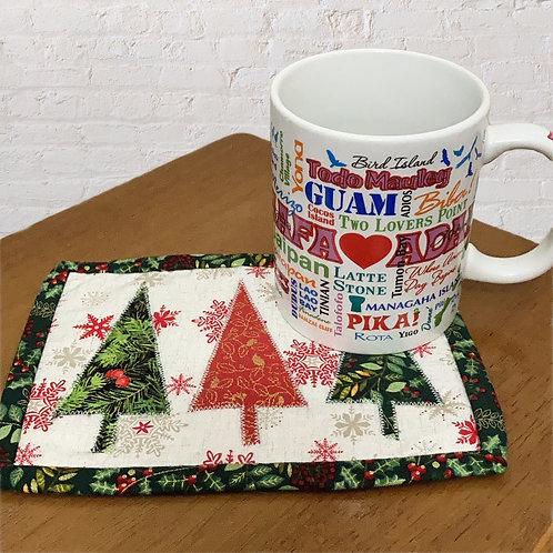 Reverisble Holiday Mug Rug