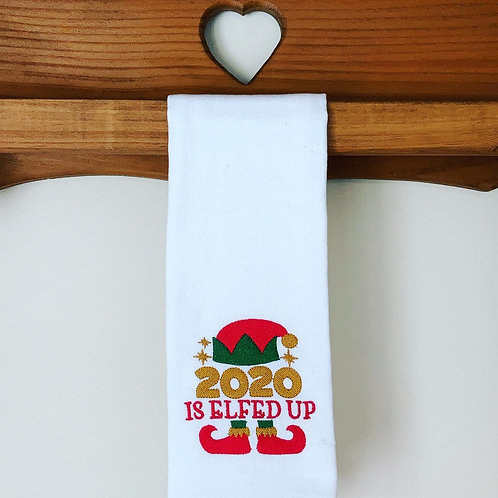 Embroidered Holiday Flour Sack Towel
