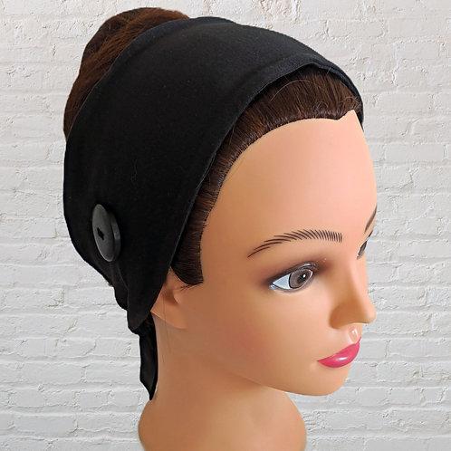 Ear-Saver Tie Headband - Black