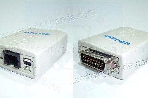 10Base-T (RJ45) to AUI Ethernet Transceiver (DB15)