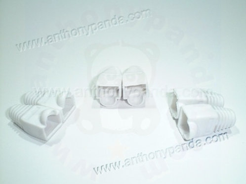 RJ-45 Plug Cable Boots - Qty 100 - White