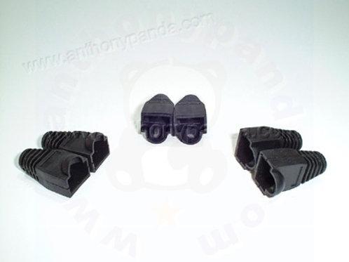 RJ-45 Plug Cable Boots - Qty 100 - Black