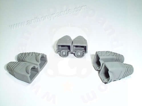 RJ-45 Plug Cable Boots - Qty 100 - Grey