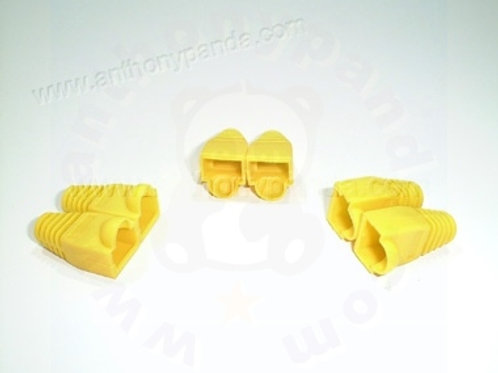 RJ-45 Plug Cable Boots - Qty 100 - Yellow