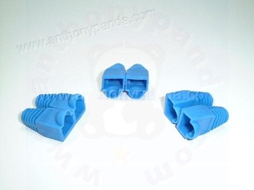 RJ-45 Plug Cable Boots - Qty 100 - Blue