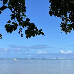 Panorama sur l'Océan, depuis le charmant village de St-Martin