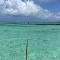 Pêcheurs dans le lagon