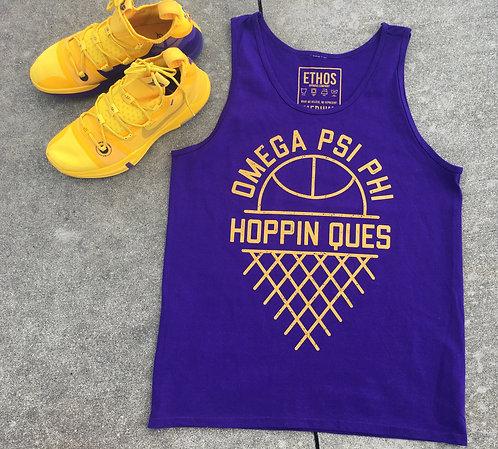 Hoppin Ques Tank Purple - Omega Psi Phi