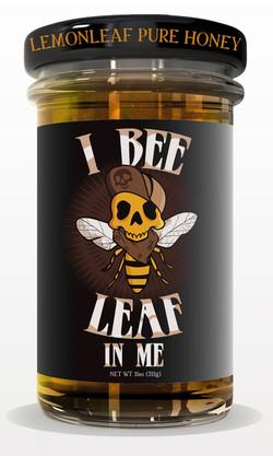 tight bottle HONEY jar mock up BLACK