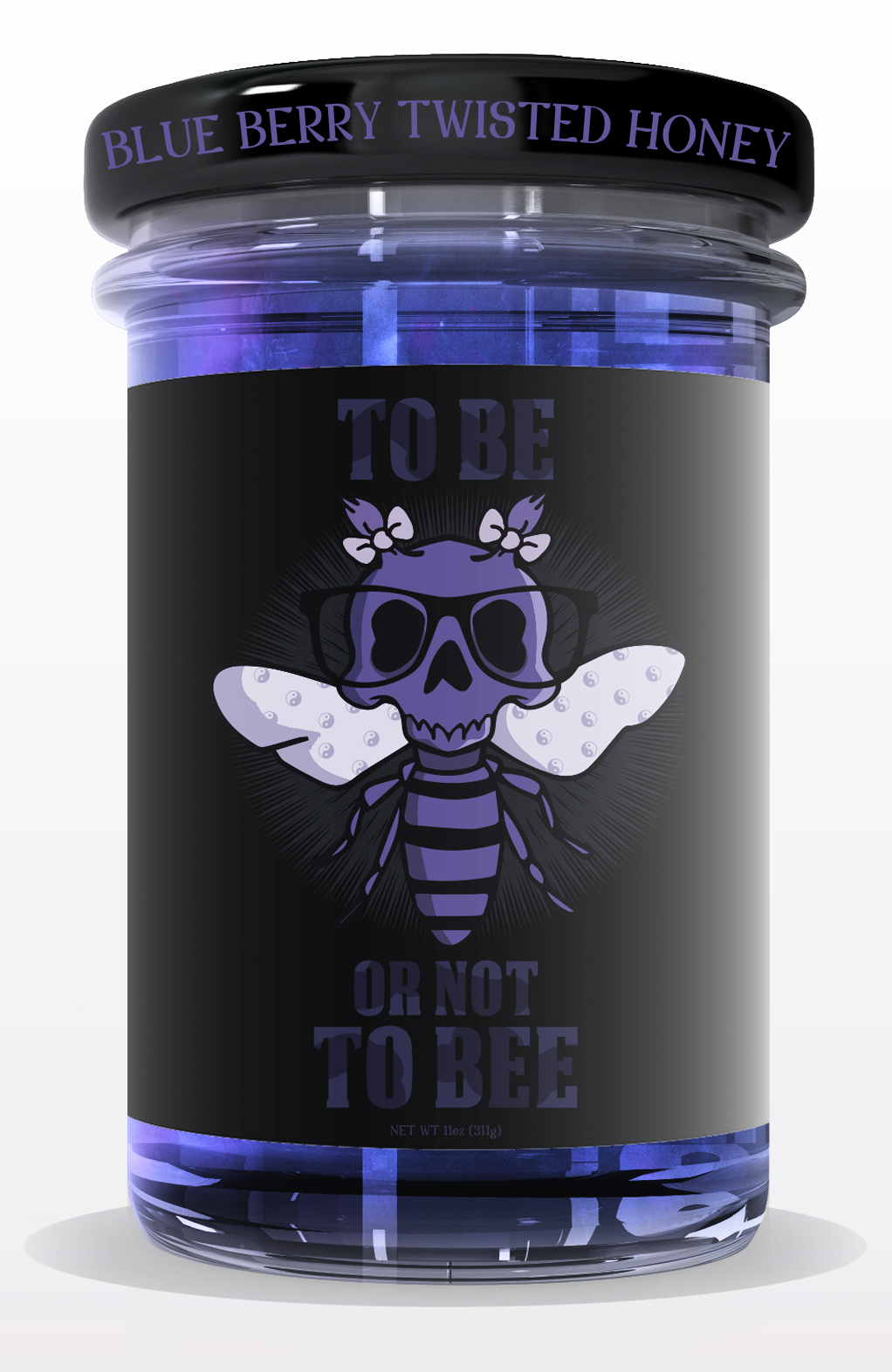 tighter jar HONEY jar mock up BLUE