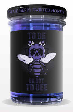 tighter jar HONEY jar mock up BLUE